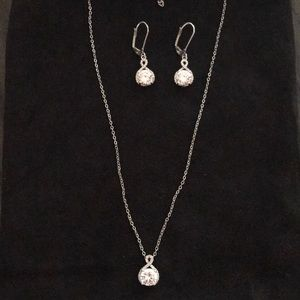 Crystal Earrings and Necklace Set